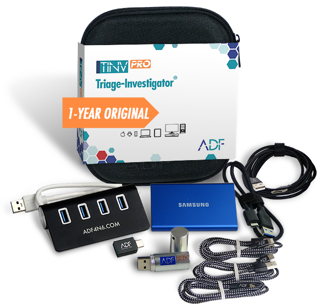 Triage-Investigator PRO Kit with 1 Year Subscription Maintenance and Support