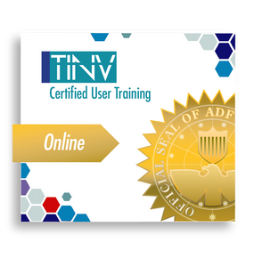 TINV logo Certified User Training Gold Online ribbon with ADF official seal