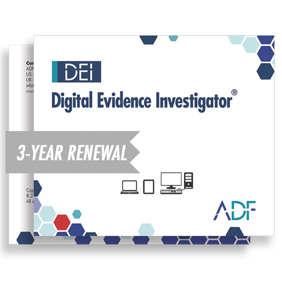 Digital Evidence Investigator 3 Year Subscription Maintenance and Support (Renewal)