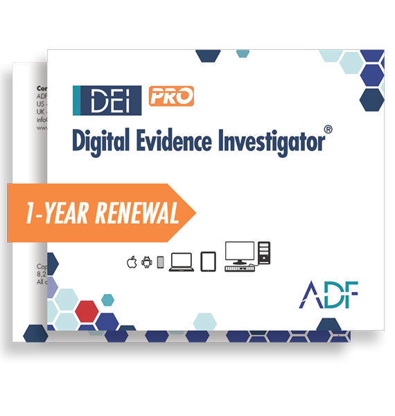 Digital Evidence Investigator PRO 1 Year Subscription Maintenance and Support (Renewal)