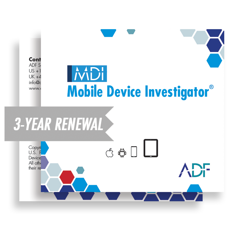 Mobile Device Investigator® 3 Year Subscription Maintenance and Support (Renewal)