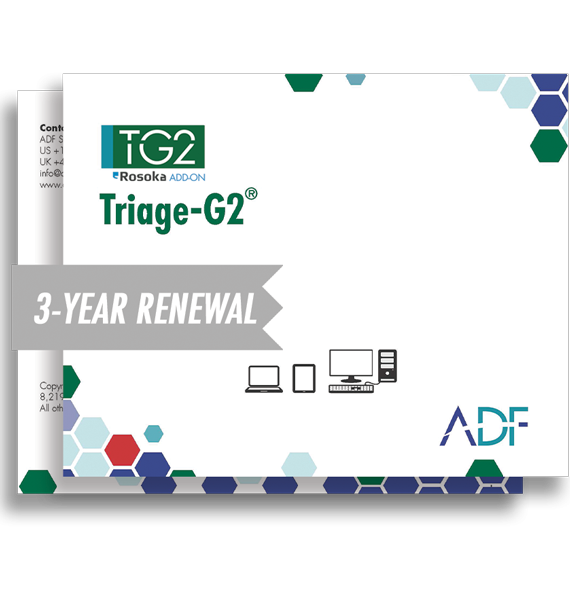 Triage-G2 with Rosoka Add-On 3 Year Subscription Maintenance and Support (Renewal)