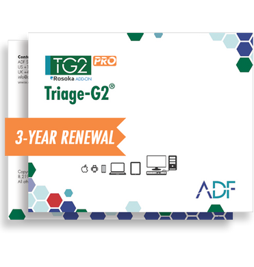 Triage-G2 PRO Software Renewal (Includes Rosoka Add-on and 3 Year Software Maintenance)