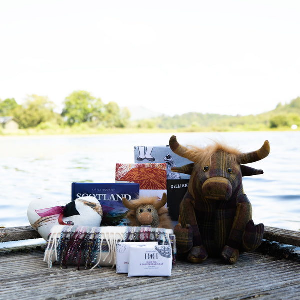 Scottish gifts, highland cows, Scottish Soap and books about Scotland
