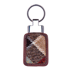 Tab Keyring in Weathered Colquhoun Tweed & Leather
