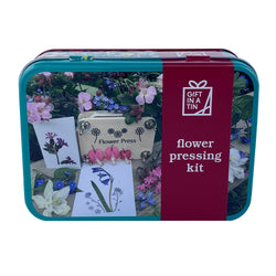 Flower Pressing Kit in a Tin