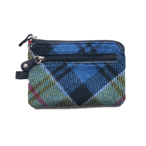 Key & Coin Case in Ancient Colquhoun Tweed and Leather