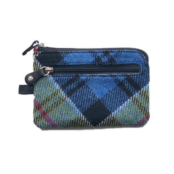 Key & Coin Case in Ancient Colquhoun Tweed and Leather - Luss General Store