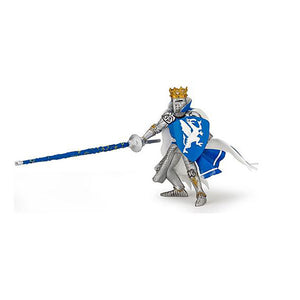 King Figurine in Blue Dragon Tabard - Luss General Store