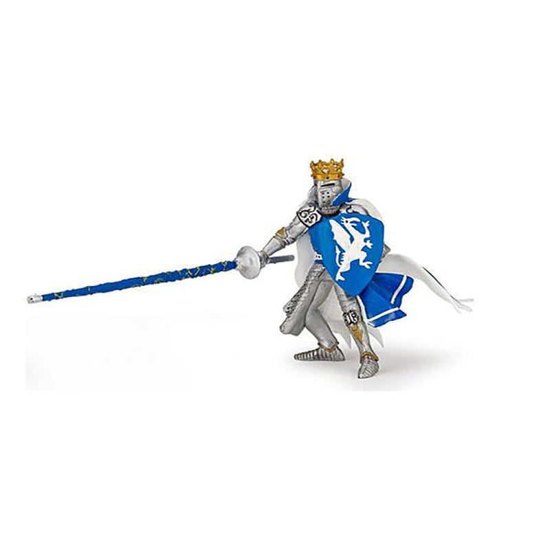 King in Blue Dragon Tabard Figurine (Papo) - Luss General Store