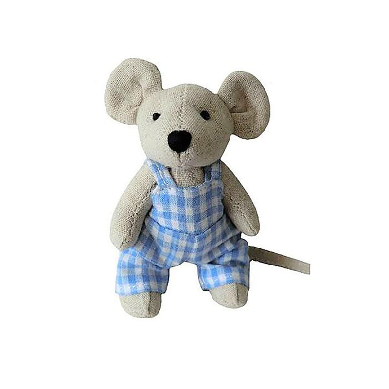 Mini Mouse in Blue Gingham Dungarees - Luss General Store