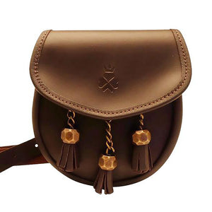 Nixey Sporran Bag in Brown Leather