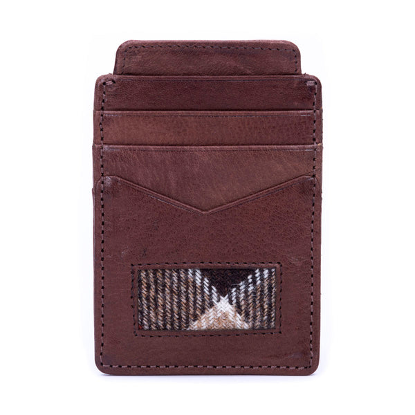 Card Holder in Weathered Colquhoun Tweed & Leather