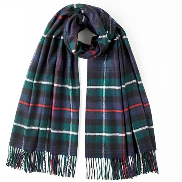 Johnstons of Elgin, Mackenzie Tartan Stole in Cashmere - Luss General Store