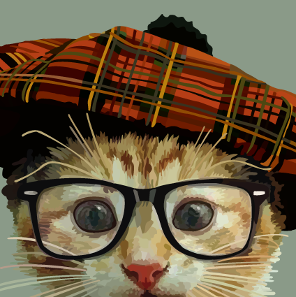 Cat, Tam & Glasses Design by Periodic Society