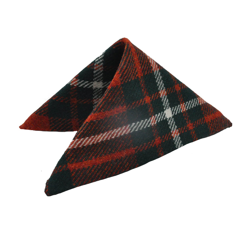 Pocket Square in MacGregor Tartan Tweed by Clare O'Neill - Luss General Store