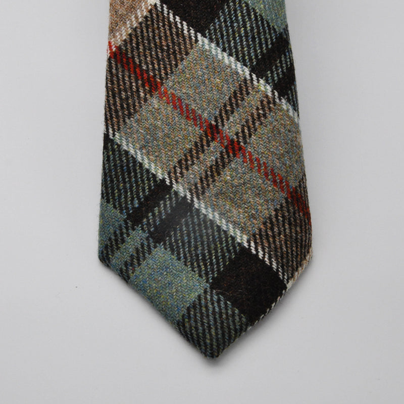 Tie in Weathered Colquhoun Tartan Tweed by Clare O'Neill