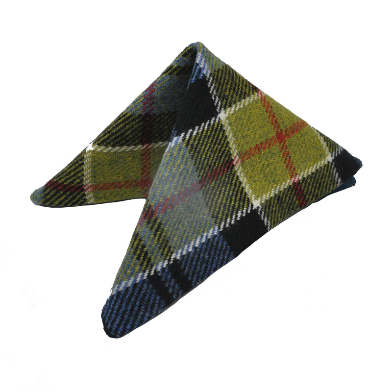 Pocket Square in Ancient Colquhoun Tartan Tweed by Clare O'Neill - Luss General Store