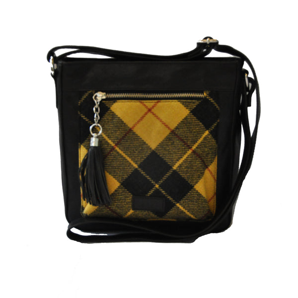 Iona Satchel in MacLeod Tartan Tweed
