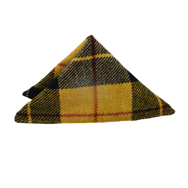 Pocket Square in Macleod Tartan Tweed by Clare O'Neill