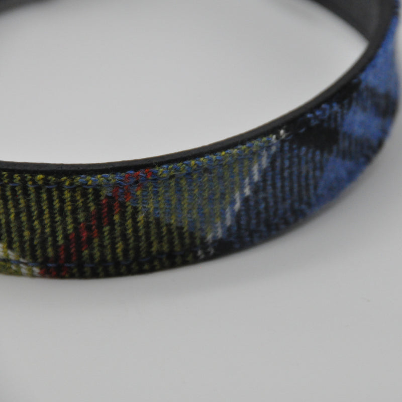 Dog Collar in Ancient Colquhoun Tartan Tweed