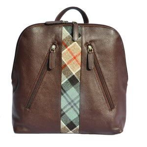 Henri Back Pack in Weathered Colquhoun Tartan Tweed