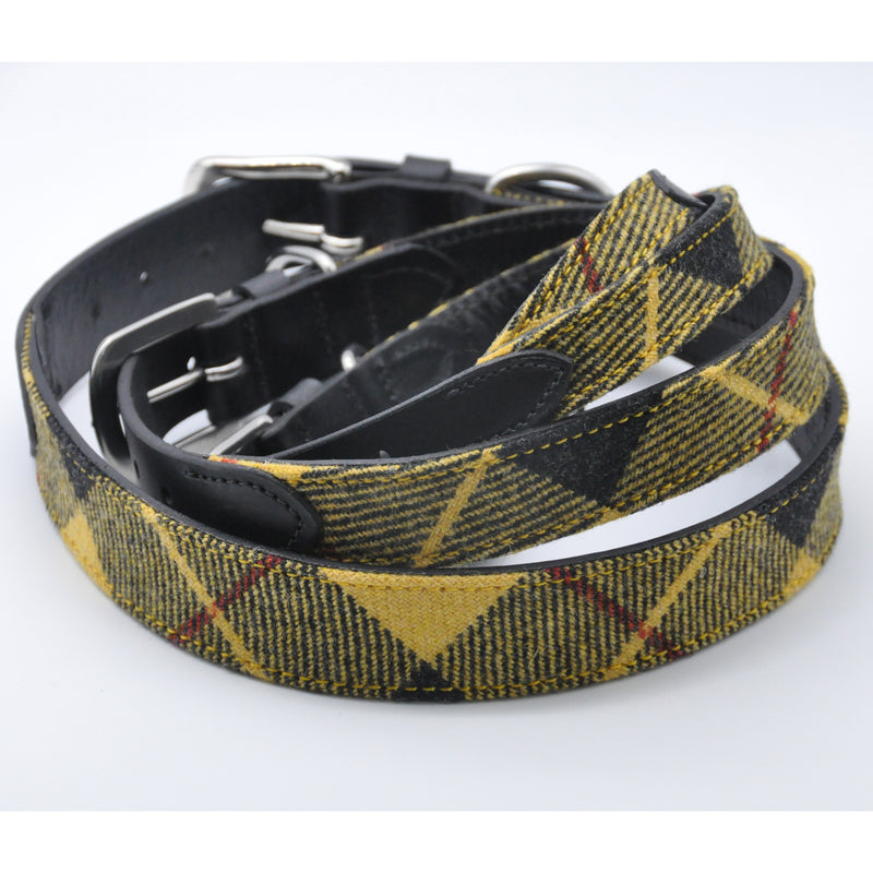 Dog Collar in MacLeod Tartan Tweed