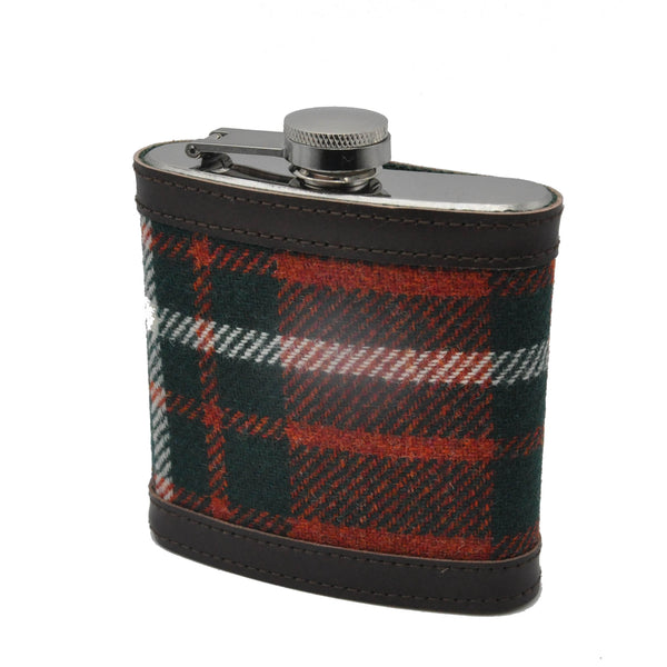 Hip Flask in MacGregor Tartan Tweed by Clare O'Neill - Luss General Store