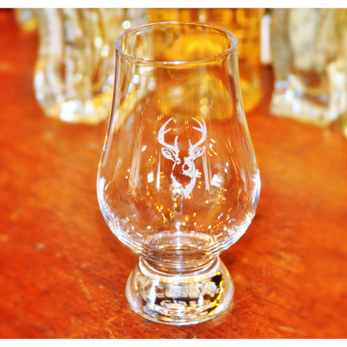 Stag Engraved Crystal Whisky Glass