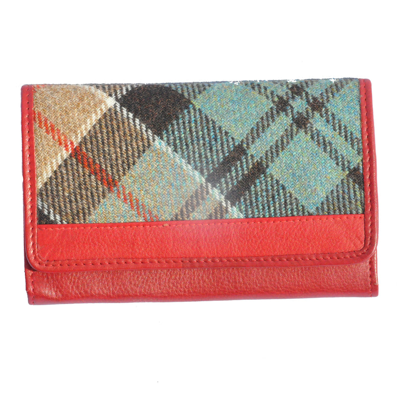 Rainbow Matinee Purse in Weathered Colquhoun with Red Leather