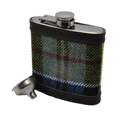 Hip Flask in Ancient Colquhoun Tartan Tweed by Clare O'Neill - Luss General Store
