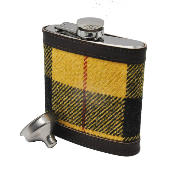 Hip Flask in Macleod Tartan Tweed by Clare O'Neill