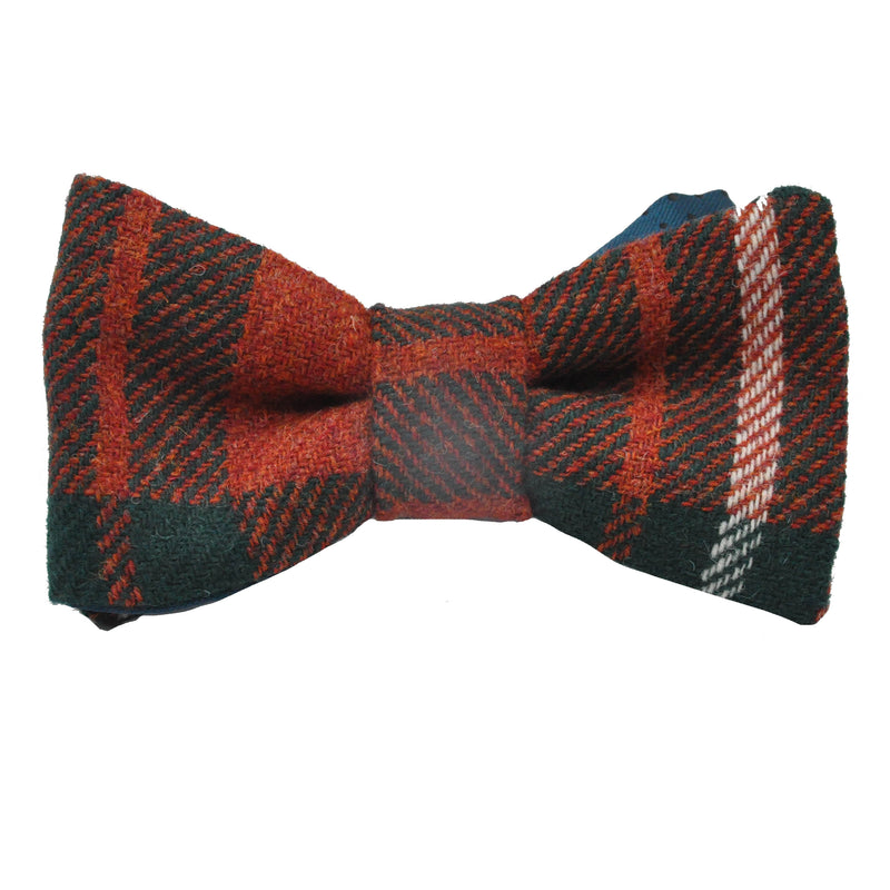 Bowtie in MacGregor Tartan Tweed by Clare O'Neill - Luss General Store