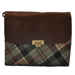 Heather Bag in Weathered Colquhoun Tweed & Leather