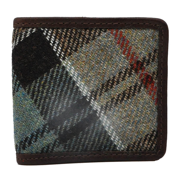 Folding Coin Purse in Weathered Colquhoun Tweed & Leather