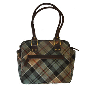 Shiela Bag in Weathered Colquhoun Tartan Tweed