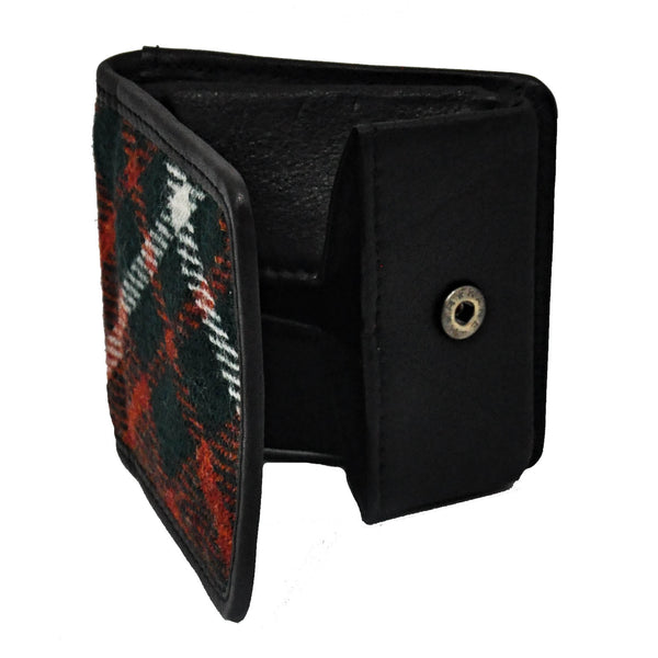Folding Coin Purse in MacGregor Tweed & Leather