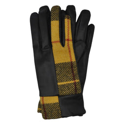 Roxburgh Gloves in MacLeod Tweed & Black Leather