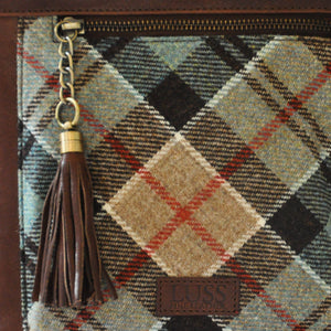 Iona Satchel in Weathered Colquhoun Tartan Tweed