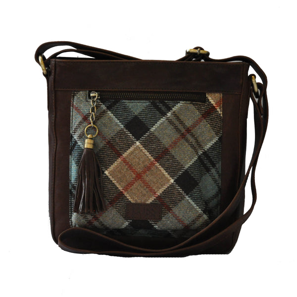 Iona Satchel in Weathered Colquhoun Tweed & Leather