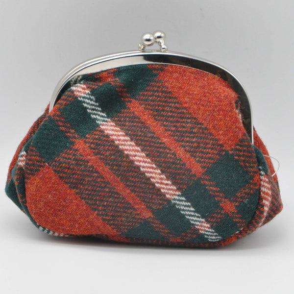 Clip Top Purse in MacGregor Tartan Tweed