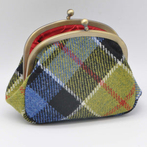 Clip Top Purse in Ancient Colquhoun Tartan Tweed