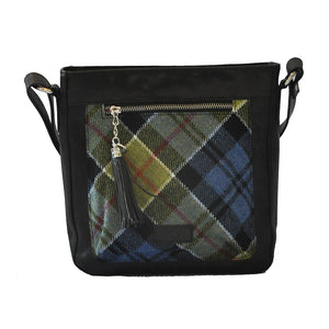 Iona Satchel in Ancient Colquhoun Tartan Tweed