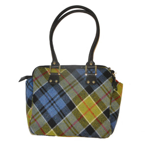 Shiela Bag in Ancient Colquhoun Tartan Tweed