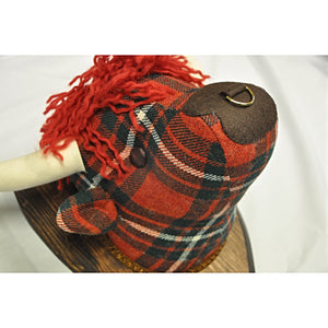Highland Cow Fabric Wall Decoration in MacGregor Tartan Tweed
