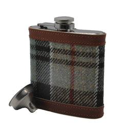 Hip Flask in Weathered Colquhoun Tartan Tweed by Clare O'Neill