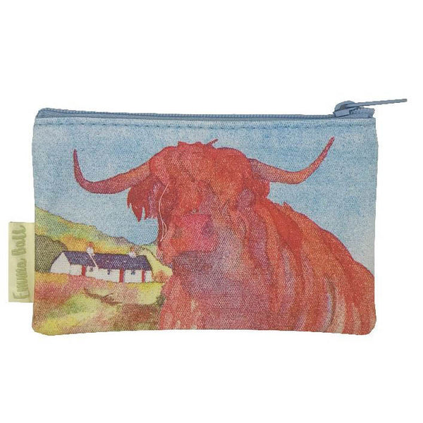Highland Cow Purse by Emma Ball