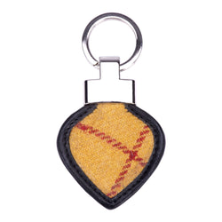 Heart Keyring in MacLeod Tweed and Leather