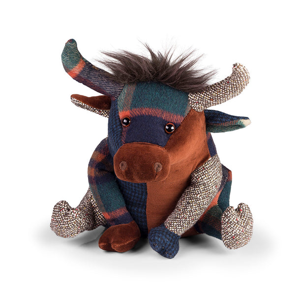 Patchwork Highland Cow Doorstop - Luss General Store