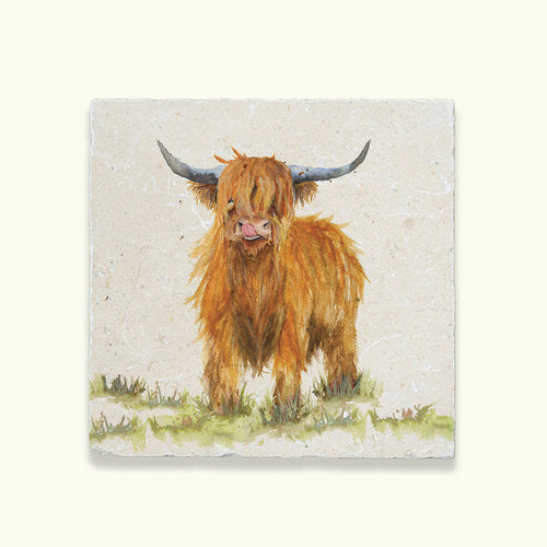 Highland Cow Marble Kitchenware